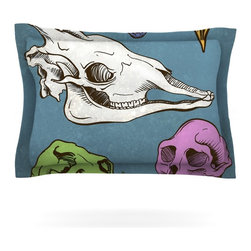 "Kess InHouse - Sophy Tuttle ""Skulls"" Pillow Sham (Cotton, 30"" x 20"") - Pairing your already chic duvet cover with playful pillow shams is the perfect way to tie your bedroom together. There are endless possibilities to feed your artistic palette with these imaginative pillow shams. It will looks so elegant you won't want ruin the masterpiece you have created when you go to bed. Not only are these pillow shams nice to look at they are also made from a high quality cotton blend. They are so soft that they will elevate your sleep up to level that is beyond Cloud 9. We always print our goods with the highest quality printing process in order to maintain the integrity of the art that you are adeptly displaying. This means that you won't have to worry about your art fading or your sham loosing it's freshness."