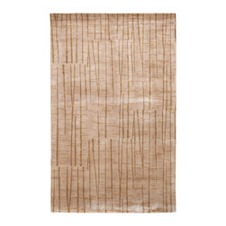 Surya - Surya Shibui SH-7409 (Beige Gold Cocoa) 4' x 6' Rug - Julie Cohn is an artist, designer and the developer of products and designs for the corporate and home interiors markets. She is a founding partner in the multidisciplinary product firm, Two Women Boxing and surface design firm Julie Cohn Design. Formed in 1998, Julie Cohn Design focused on surface design for china and glass, carpets, rugs, wall covering, and other home accessories. Hospitality and design firms have enlisted her talents for large hotel projects for Ritz, Hyatt, Hilton and others. This Tibetan weave collection, Shibui, is rich, elegant, and urbane. Masterfully mixing wool with silk, the details and finesse are exquisite.