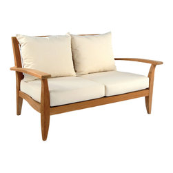 Ipanema Settee - By Kingsley Bate - Representing a confluence of modern and classical styles to achieve transitional balance, the IPANEMA deep seating collection brings a natural elegance to any environment. Designed by Glyn Peter Machin, the group includes a lounge chair, sofa, settee, and ottoman. Sumptuous cushions are custom fitted to each piece.
