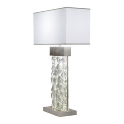 Fine Art Lamps - Fine Art Lamps 824610-34 Crystal Bakehouse Crystal River Stones Table Lamp - 2 Bulbs, Bulb Type: 13 Watt CFL Mini Spiral; Weight: 42lbs