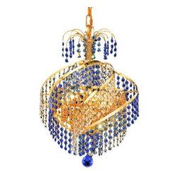 Elegant Lighting - Elegant Lighting 8053D14G Spiral 3-Light, Single-Tier Crystal Chandelier, Finish - Elegant Lighting 8053D14G Spiral 3-Light, Single-Tier Crystal Chandelier, Finished in Gold with Royal Cut CrystalsElegant Lighting 8053D14G Features: