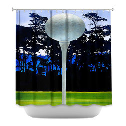 DiaNoche Designs - Shower Curtain Artistic High Tee - DiaNoche Designs works with artists from around the world to bring unique, artistic products to decorate all aspects of your home.  Our designer Shower Curtains will be the talk of every guest to visit your bathroom!  Our Shower Curtains have Sewn reinforced holes for curtain rings, Shower Curtain Rings Not Included.  Dye Sublimation printing adheres the ink to the material for long life and durability. Machine Wash upon arrival for maximum softness. Made in USA.  Shower Curtain Rings Not Included.