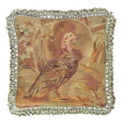 "EuroLux Home - New 22""x22"" Throw Pillow Right Facing Turkey - Product Details"