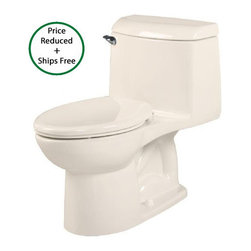 """American Standard - American Standard 2034.014.222 Linen Champion 4 Champion 4 Elongated - Product Features:  Fully covered under a 10 year warranty - 10 times the industry standard Quick, quiet flushing - American Standard toilets are notoriously efficient and hushed Industry-leading flushing system out-performs older toilets while using less than 1/2 the water Tank flushing components specially engineered to withstand chemically-treated urban water EverClean porcelain surface is extremely easy to keep clean, including inside the bowl Elongated bowl shape - more comfortable than round bowls, especially for men One-piece toilet - seamless, easier to keep clean; lends to a more refined look Chair-height bowl - easier to sit and stand; appropriate for adults and the elderly Left mounted tank lever Straight-forward installation instructions are included with each toilet 100% factory flush tested - guaranteed to perform Toilet seat is not included - when adding to cart, options that fit this toilet will be presented Wax ring kit (for installation) is not included - when adding to cart, this inexpensive item will be presented  Champion 4 Flushing:  Accelerator 4"""" flush valve – The flush starts with a piston action flush valve that lifts straight up, allowing water to pour into 4"""" valve opening from all directions. 1.6 gallons of water enters the bowl in less than a second - three times faster than standard 2"""" flush valves, and twice as fast as even performance 3"""" flush valves. The flush is quiet, too. 360 degree cleaning – Water entering the bowl does so in a sweeping 360-degree motion. This is designed to help completely clear the bowl, even while using less water. Powerful siphoning water jet – A perfectly positioned water jet captures the circular fl"""