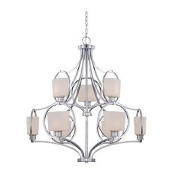 Designers Fountain 84089 Mirage 9 Light Chandelier in Chrome Finish