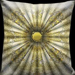 Lama Kasso - Parisian Gold and Silver Parasol Pillow 18 x 18 Satin Pillow - -Satin Lama Kasso - 200-004