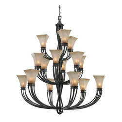 Golden Lighting - RT 15L Wrought Iron Fifteen Light ChandelierOrigins Collection - Golden Lighting specializes in the design and manufacture of high quality residential lighting products and accessories.