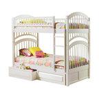 Atlantic Furniture - Atlantic Furniture Windsor Bunk Bed Twin Over Twin in White - Atlantic Furniture - Bunk Beds - AB57102