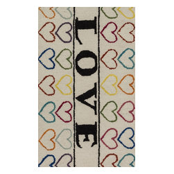 "Loloi Rugs - Loloi Rugs Skylar Collection - Ivory / Multi, 2'-3"" x 3'-9"" - Make a big statement in small spaces with the Skylar Collection. Hooked in India of 100% wool, the designs bring colorful, bold attitude perfect for entry ways, bathrooms, and kid's rooms.�"