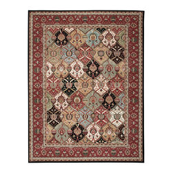 """Nourison - Nourison Modesto MDS04 3'11""""x5'3"""" Multicolor Area Rug 18403 - Enhance any interior with this classic Persian design area rug. With shades of crimson, periwinkle coffee, and black this Persian area rug takes its inspiration from rare antique designs and evokes a sense of a storied past while making use of modern day colors. The timeless design of this rug will transform any room with its elegant variety of patterns and colors."""
