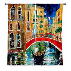 "DiaNoche Designs - Window Curtains Lined by Karen Tarlton Venice Feb 1 2011 - Purchasing window curtains just got easier and better! Create a designer look to any of your living spaces with our decorative and unique ""Lined Window Curtains."" Perfect for the living room, dining room or bedroom, these artistic curtains are an easy and inexpensive way to add color and style when decorating your home.  This is a woven poly material that filters outside light and creates a privacy barrier.  Each package includes two easy-to-hang, 3 inch diameter pole-pocket curtain panels.  The width listed is the total measurement of the two panels.  Curtain rod sold separately. Easy care, machine wash cold, tumble dry low, iron low if needed.  Printed in the USA."