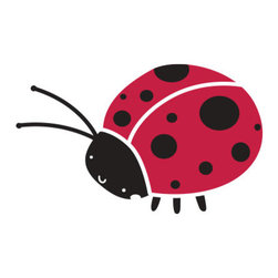 "My Wonderful Walls - Ladybug Stencil 1 for Painting - - Measures 6.5""w x 4""h"