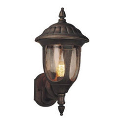 DHI-Corp - Stratford Outdoor Uplight, 8.5-Inch by 25.25-Inch, Weathered Bronze - The Design House 512293 Stratford Outdoor Uplight greets your guests at the door with a soft, inviting glow. Finished in weathered bronze with clear glass, this outdoor sconce will decorate your facade with a regal elegance. The soft details make this fixture look like it came from an antique shop without the upkeep or high costs. Measuring 8.5-inches by 25.25-inches, this lamp matches brick, stone, wood paneling or aluminum siding. This wall mount features a 60-watt medium base incandescent lamp and is rated for 120-volts. UL listed and UL approved for wet areas, this uplight will not break or rust in harsh weather conditions. The Design House 512293 Stratford Outdoor Uplight comes with a 10-year limited warranty that protects against defects in materials and workmanship. Design House offers products in multiple home decor categories including lighting, ceiling fans, hardware and plumbing products. With years of hands-on experience, Design House understands every aspect of the home decor industry, and devotes itself to providing quality products across the home decor spectrum. Providing value to their customers, Design House uses industry leading merchandising solutions and innovative programs. Design House is committed to providing high quality products for your home improvement projects.