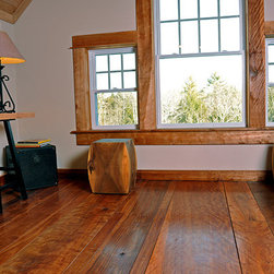 Loft Office Remodel - Reclaimed Red Birch Floors and Ceiling - Loft Office - Boston, MA