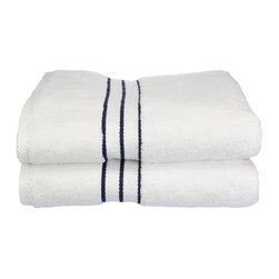 "900 GSM Hotel Collection Bath Towel Set, Navy Blue - These ultra-soft towels create a spa experience. Treat yourself to this lush, beautiful towel set for an easy way to revitalize your bath decor. This towel can also be found in various other colors. Set includes two bath towels 30""x55"" each."