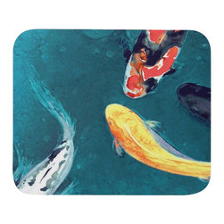 Brazen Design Studio - Mousepad - Water Ballet Koi Painting - Art for Home or Office - Spice up your desk or work areas with this beautiful and colorful piece of art on a mouse pad! These mouse pads are top-quality and measure approximately 9.25��_ by 7.75��_ and 1/4��_ thick with a rubber base. They are heavy duty and meant to last.