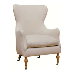 Charlie Chair - The classic wing chair just became a little more fun. I love this super comfortable and chic chair.