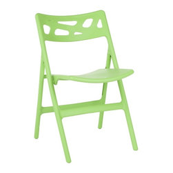 Safavieh - Safavieh Timothy Green Indoor/ Outdoor Folding Chair (Set of 4) - A set of four Timothy green folding chairs is perfect for any indoor or outdoor setting. Stylish chairs make great extra seats when needed, and folds for easy space saving storage.