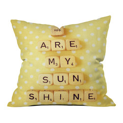 Happee Monkee You Are My Sunshine Outdoor Throw Pillow - Do you hear that noise? it's your outdoor area begging for a facelift and what better way to turn up the chic than with our outdoor throw pillow collection? Made from water and mildew proof woven polyester, our indoor/outdoor throw pillow is the perfect way to add some vibrance and character to your boring outdoor furniture while giving the rain a run for its money.