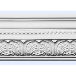 "Inviting Home - Le Chambre Crown Moulding (large) - 12 foot length - large Le Chambre crown moulding 7""H x 6-1/2""P x 9-1/2""F x 12'00""L repeat - 5-3/8"" 4 piece minimum order required crown molding specifications: - outstanding quality crown molding made from high density polyurethane: environmentally friendly material is hypoallergenic and fully recyclable no CFC no PVC no formaldehyde; - front surface of this molding has extra durable and smooth surface; - crown molding is pre-primed with water-based white paint; - lightweight durable and easy to install using common woodworking tools; - metal dies were used for consistent quality and perfect part to part match for hassle free installation; - this crown molding has sharp deep and highly defined design; - matching flexible molding available; - crown molding can be finished with any quality paints; Polyurethane is a high density material--it's extremely lightweight and easy to install (and comes primed and ready to paint). It is a green material meaning its CFC and formaldehyde free. It is also moisture resistant--so it won't shrink flex or mold. What's also great about Polyurethane is that it's completely customizable and can be treated as wood (you can saw it nail it screw it and sand it). In addition our polyurethane material comes primed and ready to paint. There is a four piece minimum requirement for this molding purchase."