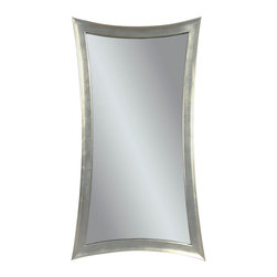 Bassett Mirror Company - Bassett Mirror Contempo Hour-Glass Wall Mirror in Silver Leaf - Hour-Glass Wall Mirror in Silver Leaf belongs to Contempo Collection by Bassett Mirror Company Bassett Mirror is fluent in this art, showing a terrific contemporary furniture that will satisfy on the one hand fans of home coziness, and on the other hand - seekers of non-standard design solutions also. One of the many strengths of the Bassett Mirror is using high quality materials for perfect embodiment of brilliant design ideas. Mirror (1)