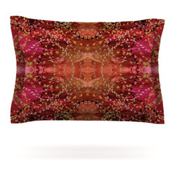 """Kess InHouse - Nikposium """"Summer"""" Red Orange Pillow Sham (Cotton, 40"""" x 20"""") - Pairing your already chic duvet cover with playful pillow shams is the perfect way to tie your bedroom together. There are endless possibilities to feed your artistic palette with these imaginative pillow shams. It will looks so elegant you won't want ruin the masterpiece you have created when you go to bed. Not only are these pillow shams nice to look at they are also made from a high quality cotton blend. They are so soft that they will elevate your sleep up to level that is beyond Cloud 9. We always print our goods with the highest quality printing process in order to maintain the integrity of the art that you are adeptly displaying. This means that you won't have to worry about your art fading or your sham loosing it's freshness."""