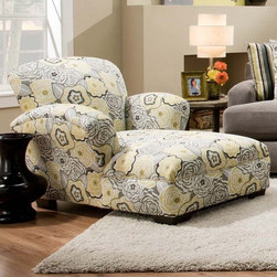 Chelsea Home - Chelsea Home Pansy Chaise Lounge Multicolor - 527815 - Shop for Chaises from Hayneedle.com! Brighten your space with the CHEL1532 Chelsea Home Pansy Chaise Lounge. Alluring floral print envelops robust hardwood and engineered wood frame which is reinforced at all stress points to ensure years of relaxation. And high scrolled arms enhance the elegant design adding a lush look to complement this lounger's plush high-density and sag-resistant foam cushioning. About Chelsea Home FurnitureProviding home elegance in upholstery products such as recliners stationary upholstery leather and accent furniture including chairs chaises and benches is the most important part of Chelsea Home Furniture's operations. Bringing high quality classic and traditional designs that remain fresh for generations to customers' homes is no burden but a love for hospitality and home beauty. The majority of Chelsea Home Furniture's products are made in the USA while all are sought after throughout the industry and will remain a staple in home furnishings.