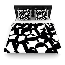 "Kess InHouse - Gabriela Fuente ""Geo Chic"" Black White Cotton Duvet Cover (Twin, 68"" x 88"") - Rest in comfort among this artistically inclined cotton blend duvet cover. This duvet cover is as light as a feather! You will be sure to be the envy of all of your guests with this aesthetically pleasing duvet. We highly recommend washing this as many times as you like as this material will not fade or lose comfort. Cotton blended, this duvet cover is not only beautiful and artistic but can be used year round with a duvet insert! Add our cotton shams to make your bed complete and looking stylish and artistic!"