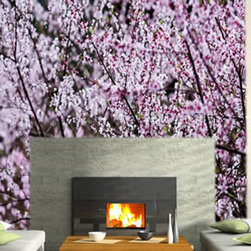 Wall murals - A delicate high resolution printed photo of cherry blossoms in bloom: what better way to add a feminine touch to your space? Also, this wall mural is completely removable and reusable, ideal for renters and everyone that likes to change their decor ever so often!