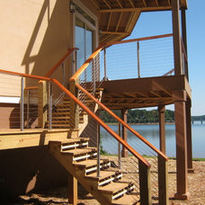 Modern Staircase by Stainless Cable & Railing, Inc.