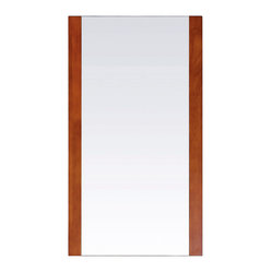 Avanity - Cosmo 20-inch Mirror - Mirror image. Strips of rubberwood frame each side of this mirror, giving it a sleek, contemporary look that reflects your bath's modern attitude. Hang it vertically over your sink in the guest bath, or place two side by side over a double vanity.