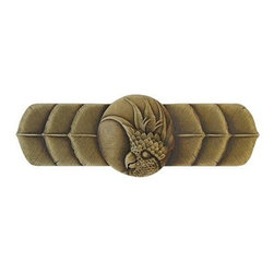 "Inviting Home - Right Horizontal Cockatoo Pull (antique brass) - Hand-cast Right Horizontal Cockatoo Pull in antique brass finish; 4-1/4""W x 1-1/2""H; Product Specification: Made in the USA. Fine-art foundry hand-pours and hand finished hardware knobs and pulls using Old World methods. Lifetime guaranteed against flaws in craftsmanship. Exceptional clarity of details and depth of relief. All knobs and pulls are hand cast from solid fine pewter or solid bronze. The term antique refers to special methods of treating metal so there is contrast between relief and recessed areas. Knobs and Pulls are lacquered to protect the finish. Alternate finishes are available. Detailed Description: If you are intrigued by fashionable and playful accessories than you will love the Cockatoo pulls - they come in vertical and horizontal options which would bring amazing variety without having to search at all. You can use the vertical pulls on the cabinet doors and the horizontal pulls on the drawers. If you have any smaller drawers you could also work in the Cockatoo Knobs making it a complete collection while displaying variety."