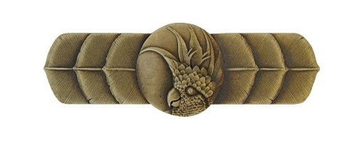 """Inviting Home - Right Horizontal Cockatoo Pull (antique brass) - Hand-cast Right Horizontal Cockatoo Pull in antique brass finish; 4-1/4""""W x 1-1/2""""H; Product Specification: Made in the USA. Fine-art foundry hand-pours and hand finished hardware knobs and pulls using Old World methods. Lifetime guaranteed against flaws in craftsmanship. Exceptional clarity of details and depth of relief. All knobs and pulls are hand cast from solid fine pewter or solid bronze. The term antique refers to special methods of treating metal so there is contrast between relief and recessed areas. Knobs and Pulls are lacquered to protect the finish. Alternate finishes are available. Detailed Description: If you are intrigued by fashionable and playful accessories than you will love the Cockatoo pulls - they come in vertical and horizontal options which would bring amazing variety without having to search at all. You can use the vertical pulls on the cabinet doors and the horizontal pulls on the drawers. If you have any smaller drawers you could also work in the Cockatoo Knobs making it a complete collection while displaying variety."""