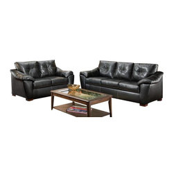 Chelsea Home Furniture - Chelsea Home Essex 2-Piece Living Room Set in Thomas Black - Essex 2-Piece living room set in Thomas black belongs to the Chelsea Home Furniture collection .