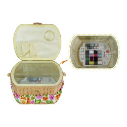 LILSEW - LIL SEW & SEW FS095 SEWING BASKET WITH 42PC SEWING KIT - LIL SEW & SEW FS095 SEWING BASKET WITH 42PC SEWING KIT