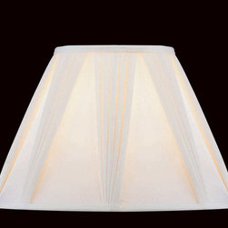 "Lite Source - Lite Source CH108-18 Accessories Shades in Pleated Drape - Pleated Drape Shade - 9""Tx18""Bx13""Sl"