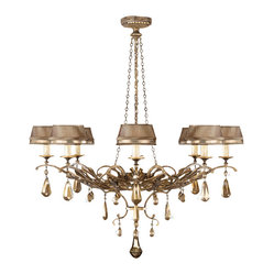Golden Aura Chandelier, 755840ST