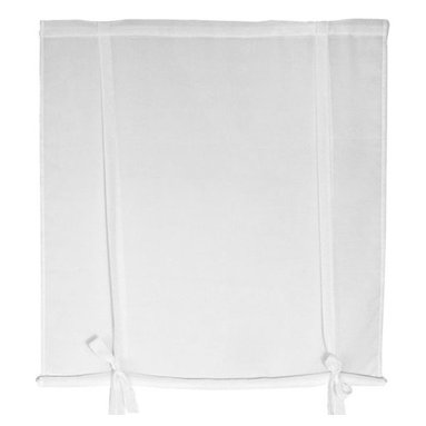 Oriental Furniture - Sheer Ribbon Tie Curtain 60 Inch, Width - 60 Inches - - A subtle, beautiful sheer window treatment, very easy to install and to use. These simple pale white curtains are installed on the wood frame to overhang the window opening, and come with attached ribbons to secure the curtains for daytime use. Sold in five widths designed to accommodate most common window frame dimensions; 2, 3, 4, 5, or 6 foot wide. Extra wide sizes work great for sliding glass or French doors.   Elegant sheer fabric curtain style window treatments.   Offered in 5 sizes; 2, 3, 4, 5, or 6 feet widths.   Come with attached ribbons to secure the curtains for daytime use.   Simple design is easy to use and install.   Let's light pass through the curtain fabric to keep the room bright. Oriental Furniture - WT-YJ1-47F-2-60W
