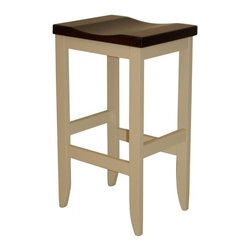 """Michael Anthony Furniture - Handcrafted Amish Mission Barstool in Solid Brown Maple 30"""" Bar Height Barstool - Handcrafted Amish Mission Barstool is made from solid North American brown maple hard wood. This product crafted by Amish wood craftsmen of the finest wood and finish"""