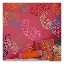 Cutting Edge Stencils - Vintage Paisley Stencil - Reusable Stencils for Walls and Fabrics - DIY Decor, M - Try wall stencils instead of expensive wallpaper! Cutting Edge Stencils offers the best stencils for DIY décor - stencils expertly designed by professional decorative painters Janna Makaeva and Greg Swisher who have over 20 years of painting experience. We are a reputable stencil company that stands behind its high quality product. We are honored to have your 100% positive feedback