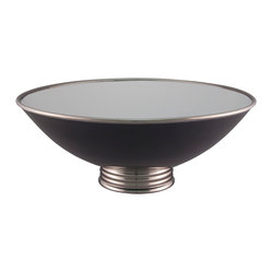 Arienne Center Bowl, Black & Platinum