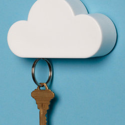 Fog-get Me Not Magnetic Key Holder - This cute magnetic cloud will make misplacing your keys a thing of the past!