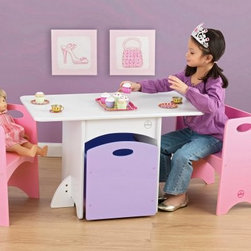 KidKraft Pastel Table and Bench Set - Give your daughter a place to sit for imaginary tea parties that will also hold her toys when she is done. This set comes with two pink benches with handles on each side for mobility. A large light purple storage blends perfectly into the middle of the table, so it is out of the way. Now your child has no reason to not clean up when she's done!About KidKraftKidKraft is a leading creator, manufacturer, and distributor of children's furniture, toy, gift and room accessory items. KidKraft's headquarters in Dallas, Texas, serve as the nerve center for the company's design, operations and distribution networks. With the company mission emphasizing quality, design, dependability and competitive pricing, KidKraft has consistently experienced double-digit growth. It's a name parents can trust for high-quality, safe, innovative children's toys and furniture.