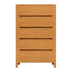 Greenington LLC - Orchid 5-Drawer Bamboo Chest - G0008-C - Shop for Dressers from Hayneedle.com! Slim and tall the handsome Orchid 5-Drawer Chest provides abundant contemporary-styled storage in your bedroom. Constructed of classic bamboo in your choice of rich espresso or warm caramelized finish this delightful chest will last for years and years. It features five spacious drawers to accommodate all your clothing and accessory storage needs. As a naturally sustainable resource bamboo is an earth-friendly choice for furniture. It is hard durable and stable for years of use. Dimensions: 32L x 19W x 50.5H inches.About Greenington LLC.Greenington LLC manufactures the finest natural bamboo furniture available on the market. Bamboo is strong and grows rapidly making it an ideal material for furniture as well as an earth-friendly environmentally sustainable resource. Greenington offers a full line of unique high-quality bamboo furniture for the bedroom living room dining room and office and its products include tables chairs benches and complete bedroom sets (bed nightstands and dressers). Greenington LLC also provides bamboo wine cabinets bamboo stools and much more.