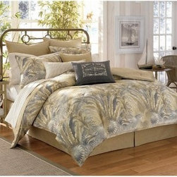Tommy Bahama® Bahamian Breeze Comforter Set - About Tommy Bahama HomeTommy Bahama started as an upscale men's casual sportswear line and has transformed into a signature brand, expanding their product line to accommodate women's apparel, golf wear, footwear, home furnishings, and even retail and restaurant compounds. The Tommy Bahama brand represents quality products with fashion forward designs that are available at an affordable price. Their signature island-lifestyle designs suggest a modern style with an emphasis on comfort and relaxation.