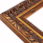 The Frame Guys - Wide Milan Gold with Beaded Edge Picture Frame-Solid Wood, 6x6 - *Wide Milan Gold with Beaded Edge Picture Frame-Solid Wood, 6x6