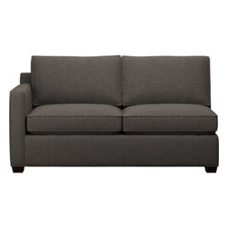Davis Left Arm Sectional Full Sleeper Sofa - Davis is a contemporary compact sectional sleeper designed for contemporary real life. Every imaginable configuration is possible between these modular pieces and the companion stand-alone pieces, all with firm but plump support. Understated hardwood legs come in a variety of finish options.