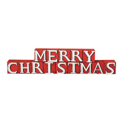 """Christmas Display Blocks in Red & White - Set of 14 - Allow these playful blocks to help you spell it out. With each one containing an individual letter, you can stack or display them almost any which way you deem fit. Wherever you decide to place them, a """"Merry Christmas"""" is sure to be had."""