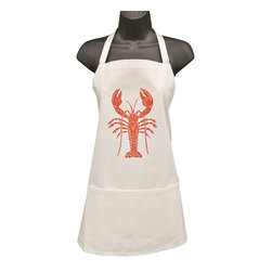 artgoodies - Organic Full Lobster Apron - These sturdy full aprons, with three pockets, have been hand printed with an original linocut block print designed by Lisa Price. Made of 100% organic fair trade cotton twill. Whether you're a butcher, a baker, or a candlestick maker this apron is for you!