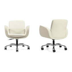 "Global Industries - ""Kate"" Leatherite Office Chair - Polished Aluminum Base"